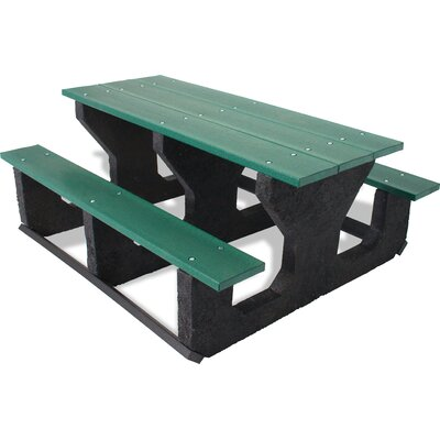 UltraSite Recycled Plastic Portable Table Table Size: 72, Finish: Cedar