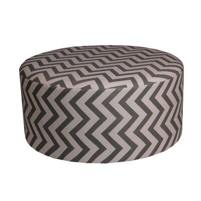 Chevron Round Ottoman Upholstery: Green