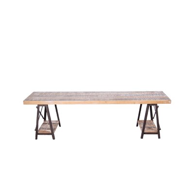Wood Storage Dining Bench Finish: Rustin Iron