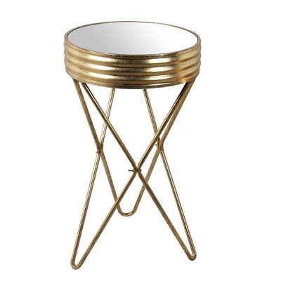 Lesa Large Iron Mirror End Table