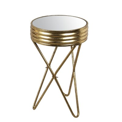Natasha Small Iron Mirror End Table