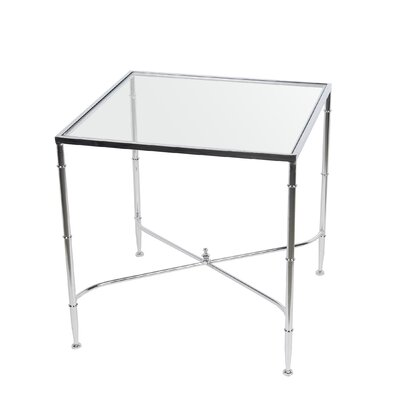 Castillo Iron and Glass End Table