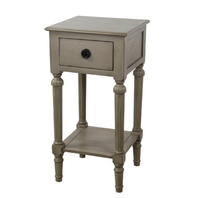 Emblyn 1 Drawer End Table Finish: French Gray