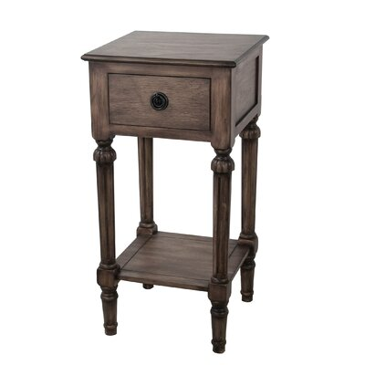 Emblyn 1 Drawer End Table Color: Desert Brown