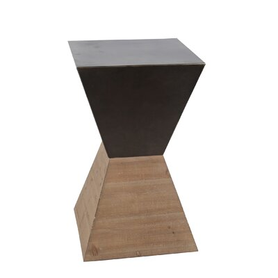 Quin Large Wood Iron End Table