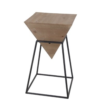 Reiley Large Wood Iron End Table