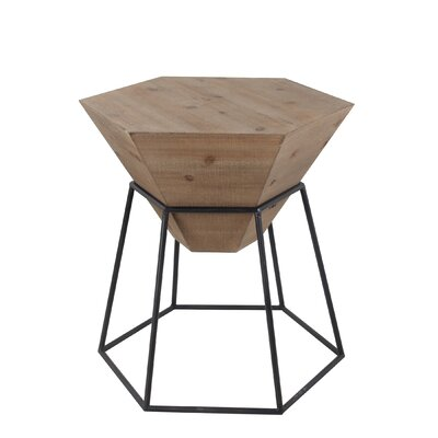 Riccardo Large Wood Iron End Table