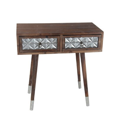Maastricht Wood Iron 2 Drawer Nightstand