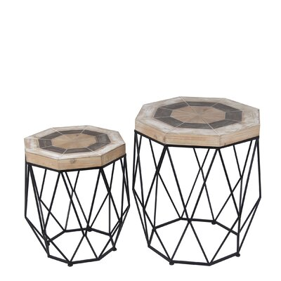 Aldous 2 Piece End Table Set