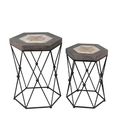 Garreth 2 Piece End Table Set