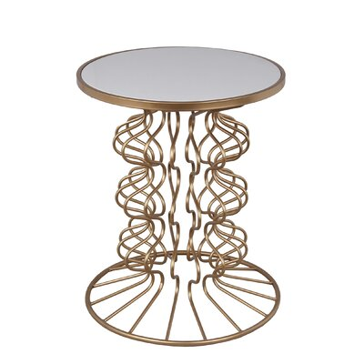Roxie Iron-Stone End Table