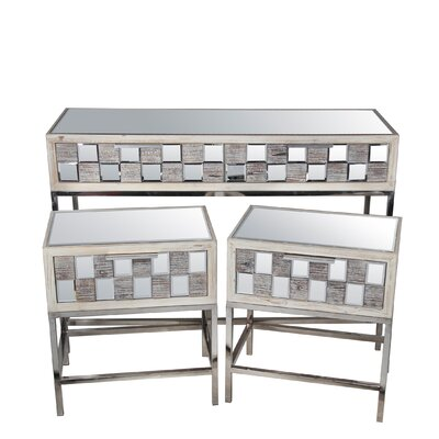 Ivy 3 Piece Console Table Set