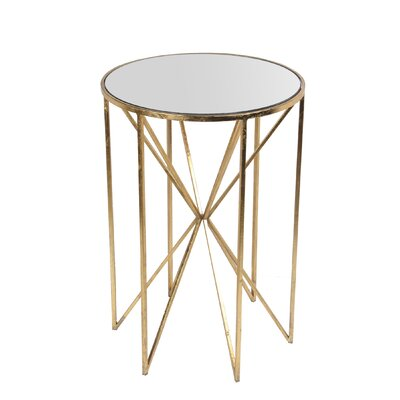 Svetlana End Table Finish: Gold