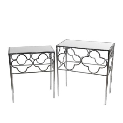 Kramer 2 Piece End Table Set Finish: Silver