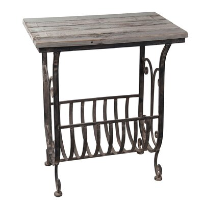 Auburnhill Iron and Wood End Table