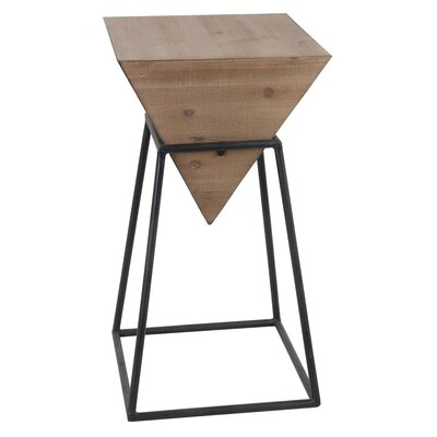 Renzo Small Wood Iron End Table