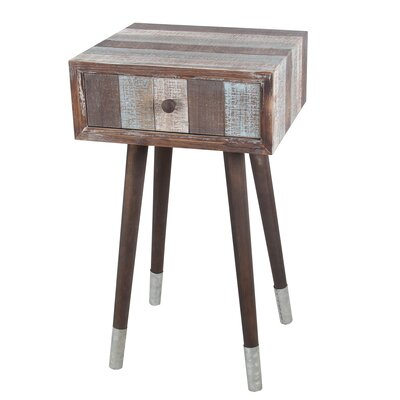 Sherman Wood Iron End Table