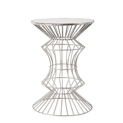 Alchiba Iron Wire End Table Finish: Silver