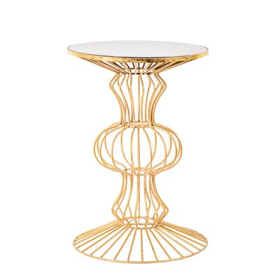 Albritton Iron Wire End Table Finish: Gold