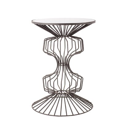 Alcinous Iron Wire End Table Color: Black