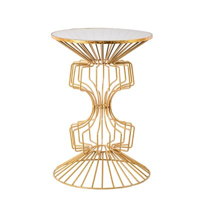 Alcinous Iron Wire End Table Color: Gold