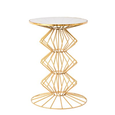 Alcor Iron Wire End Table Finish: Gold