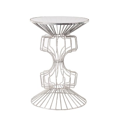 Alcinous Iron Wire End Table Color: Silver