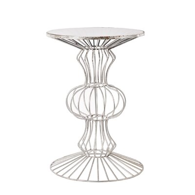 Albritton Iron Wire End Table Finish: Silver