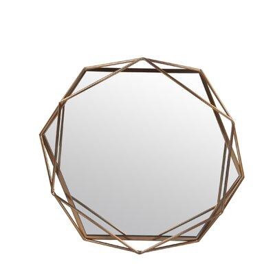 "Dekalb Iron Hexagonal Wall Accent Mirror Size: 29.75"" H x 31.25"" W x 3.13"" D MCRW6197 42691951"