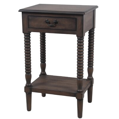 Brokaw End Table with Drawer Color: Brown