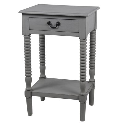 Brokaw End Table with Drawer Color: Gray