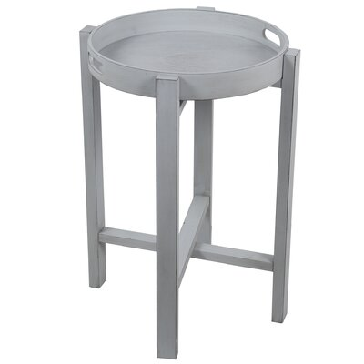Aledo Round Tray Table Color: Gray