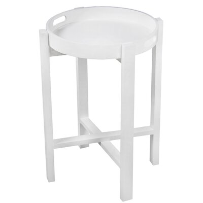 Aledo Round Tray Table Color: White
