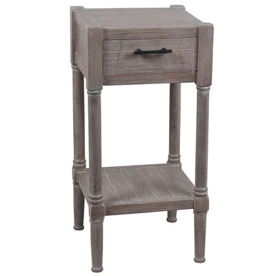 Diawara End Table with Drawer Color: Brown