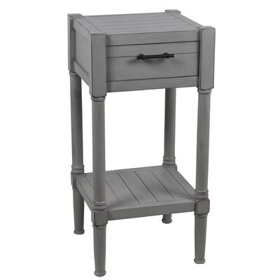Diawara End Table with Drawer Color: Gray