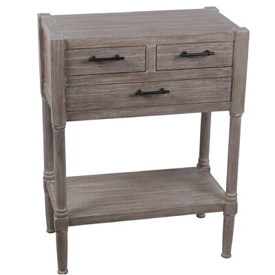 Diawara 3 Drawer End Table Color: Brown