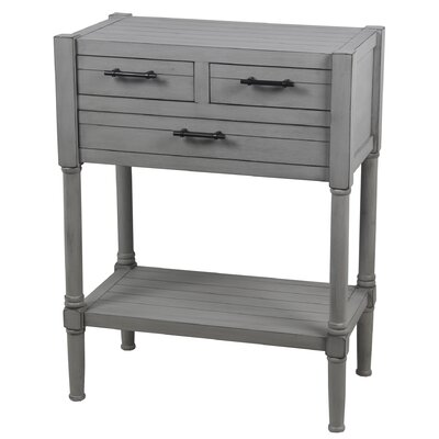Diawara 3 Drawer End Table Color: Gray