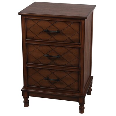 Brookes 3 Drawer End Table