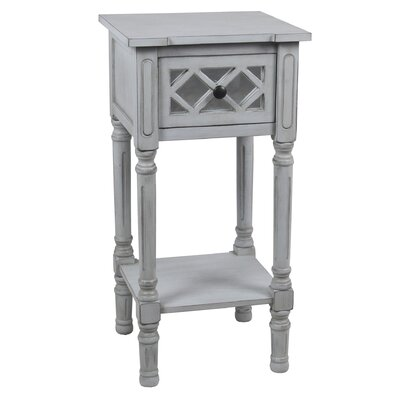 Savitha Mirror End Table with Drawer