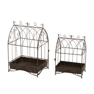 2 Piece Novelty Plant Stand Set