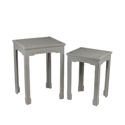 2 Piece Shagreen End Table Set