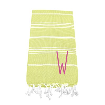 Personalized Beach Towel Letter: W