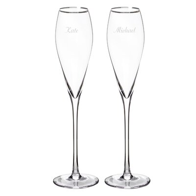 Personalized Champagne Flute Glass +S