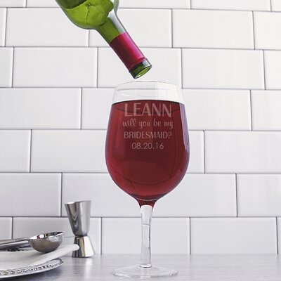 Personalized Wine Glass WB-B2232