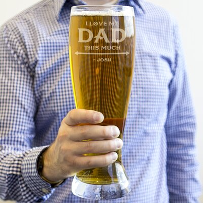 Personalized 54 Oz. Father's Day XL Beer Pilsner Glass