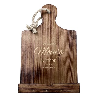Personalized Mothers Day Wooden iPad & Recipe Stand Finish: Brown