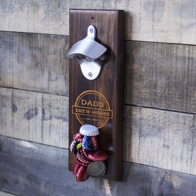 Personalized Dad's Brew House Wall Mount Bottle Opener FD16-4917