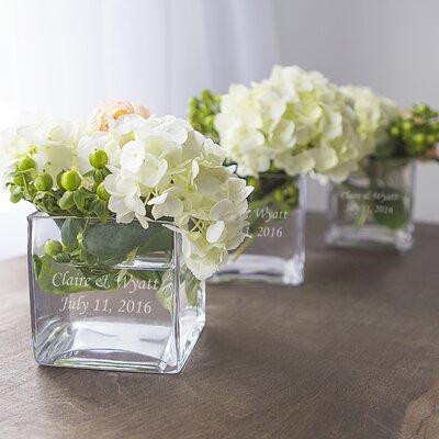 3 Piece Glass Vase Wedding Centerpiece Set