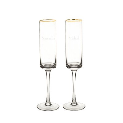 Personalized 2-Piece 8 Oz. Champagne Flute 3668G