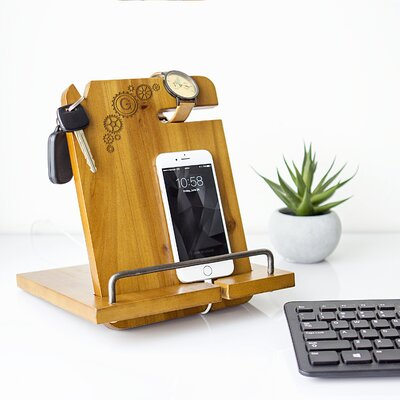 Personalized Steampunk Wooden Docking Station GR-4035BR